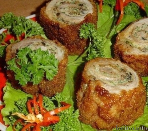 «Пенечки» с мясом и грибами